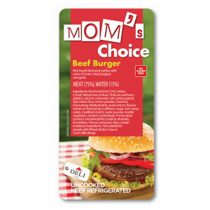 Moms choice beef burger