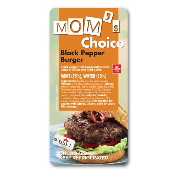 Moms choice black peper burger
